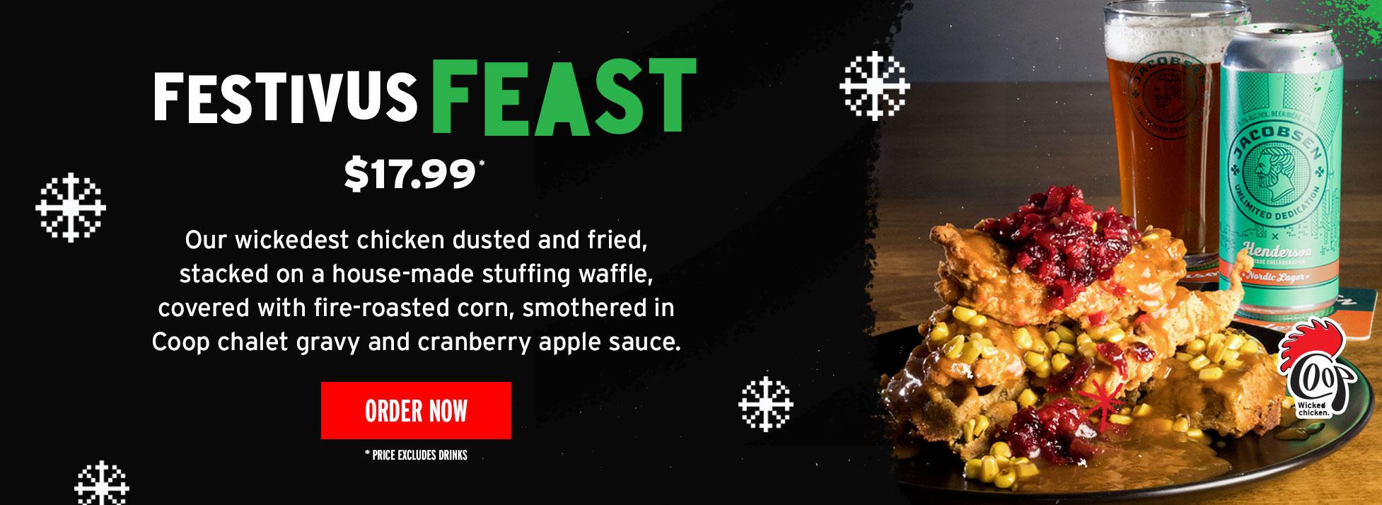 Festivus Feast $17.99 Order now